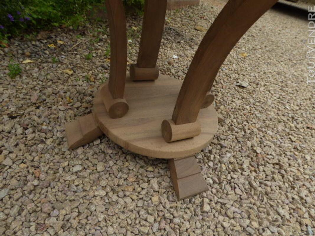 Gueridon table ancien art deco noyer brut decape 313065808