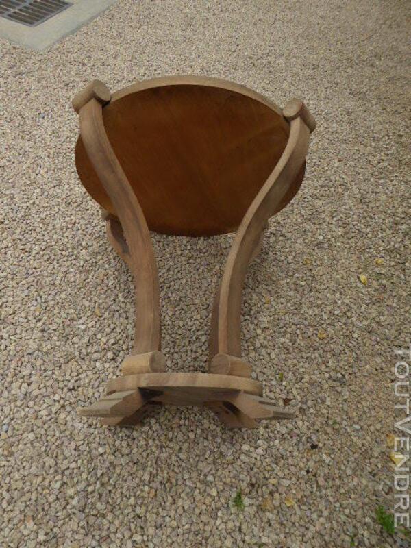 Gueridon table ancien art deco noyer brut decape 313065814