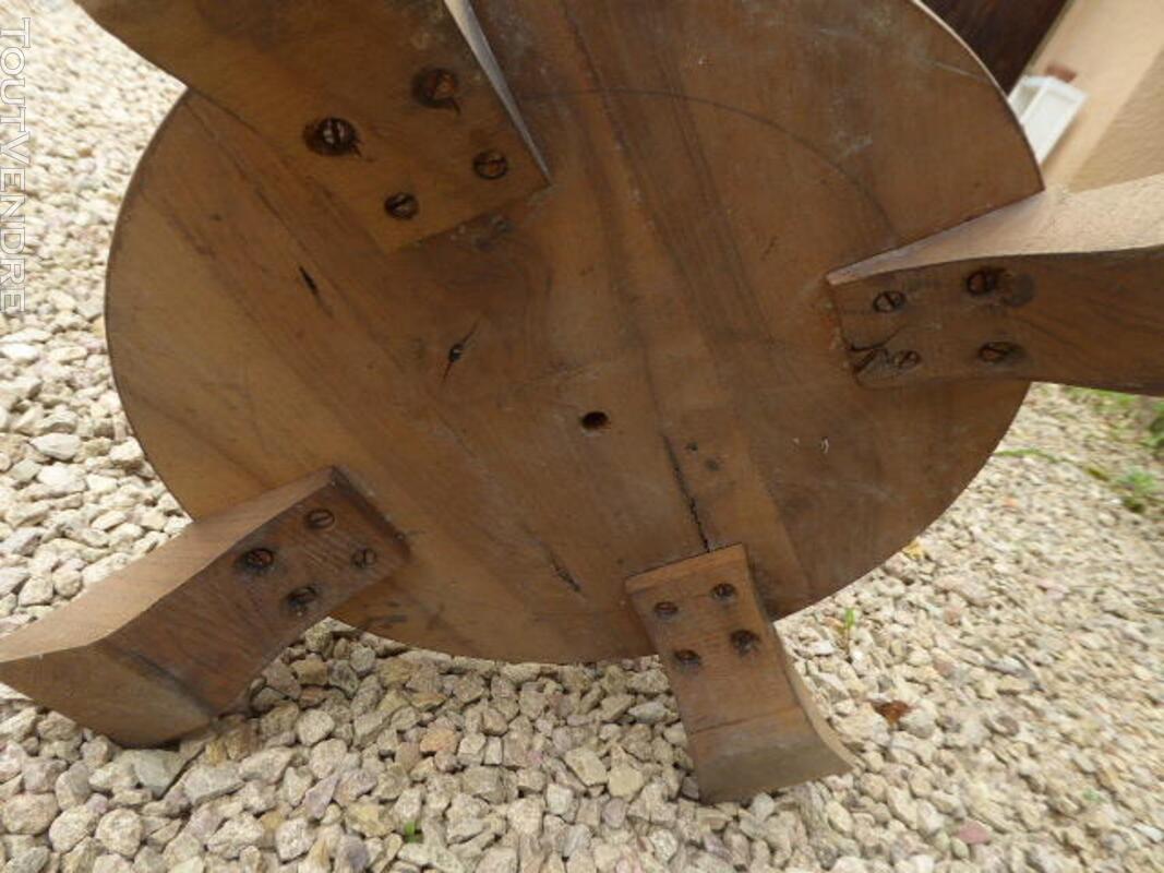 Gueridon table ancien art deco noyer brut decape 313065817