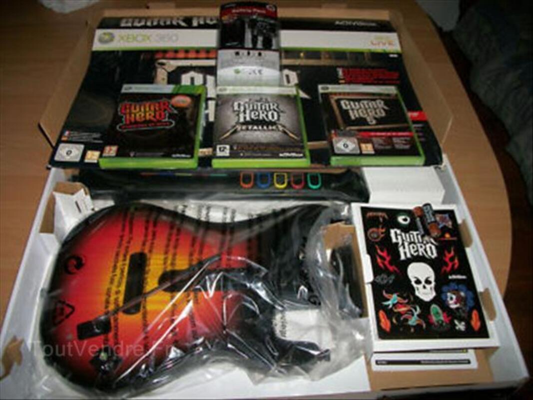 Guitar hero 5 + warriors + metallica + guitare xbox 360 56462511