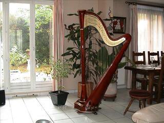 Harpe CAMAC modele Atlantide 47 cordes, table double