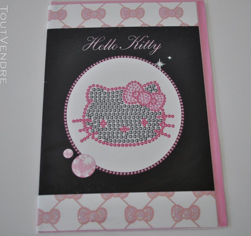 HELLO KITTY carte 2 volets neuve avec enveloppe 108260162