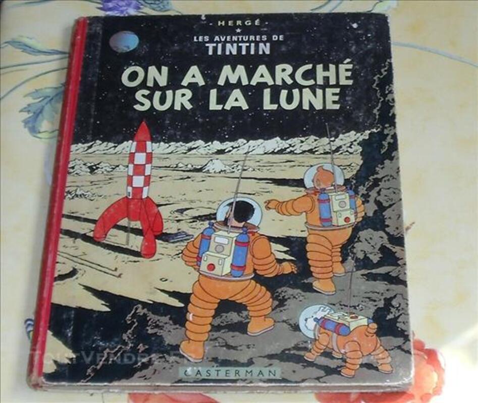 Hergé BD Ancienne Tintin On a marché sur la Lune 1954 82506474