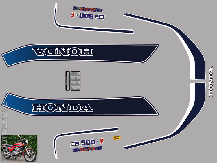 Honda CB 900 F (z) Bol d'Or 1979, Kit déco stickers 660886662