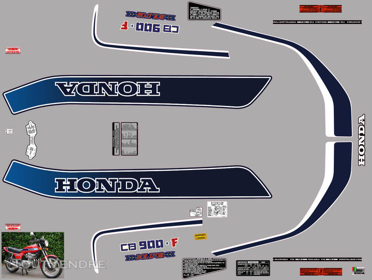 Honda CB 900 F (z) Bol d'Or 1979, Kit déco stickers 660889659