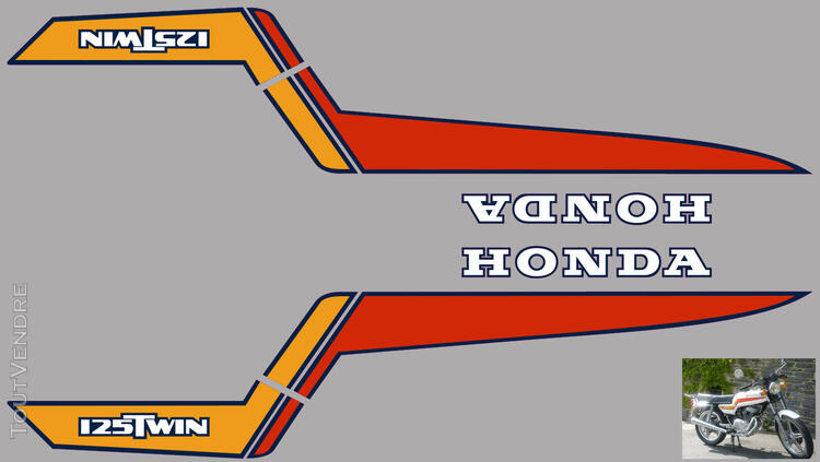 Honda CB125 T2 kit déco, sticker 632325226