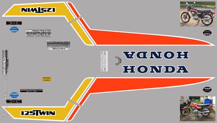 Honda CB125 T2 kit déco, sticker 632325760