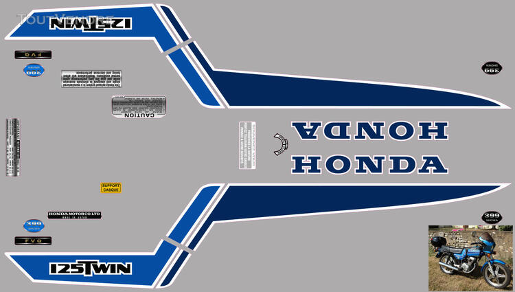 Honda CB125 T2 kit déco, sticker 632325811
