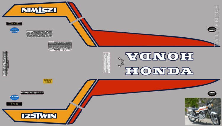 Honda CB125 T2 kit déco, sticker 632325835