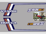 Honda CB125S 78, CB125S1 Kit déco, stickers