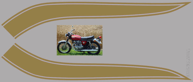 Honda CB450 K 1969-74, kit déco, sticker 666664053