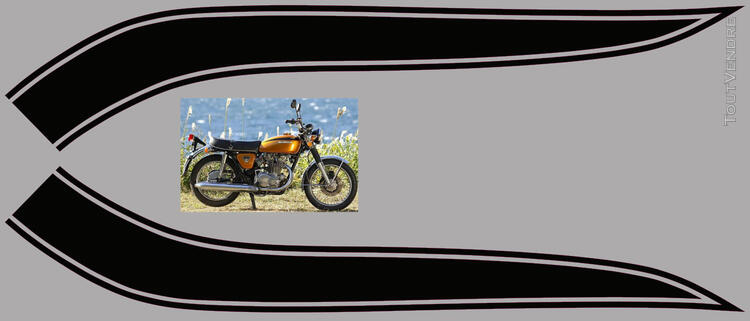 Honda CB450 K 1969-74, kit déco, sticker 666664164