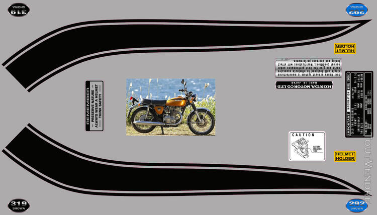 Honda CB450 K 1969-74, kit déco, sticker 666664383