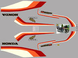 Honda CB750F2 RC04 81 Kit déco stickers