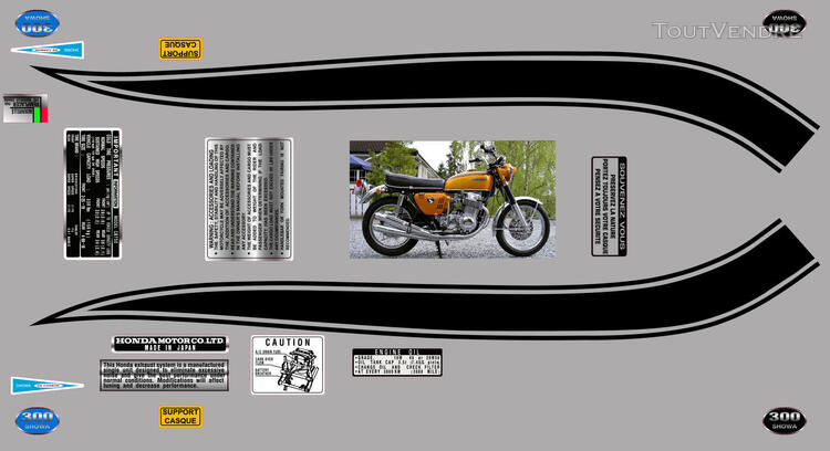 Honda CB750Four, K0 à K2, Kit déco, stickers 633289565