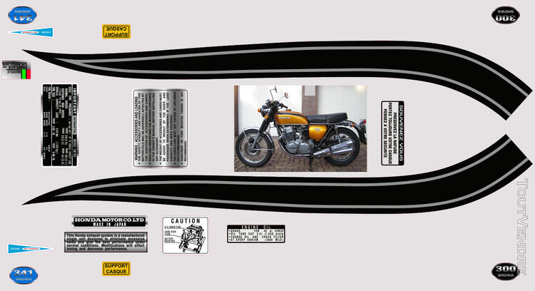 Honda CB750Four, K0 à K2, Kit déco, stickers 633289628