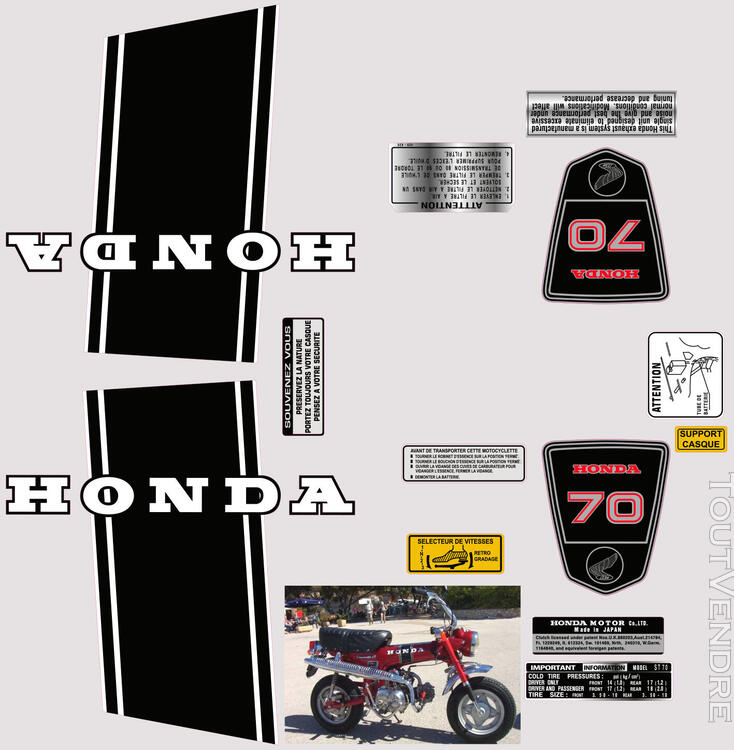 Honda Dax ST70, Kit déco stickers 713006334