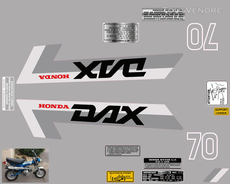 Honda Dax ST70, Kit déco stickers 713006349