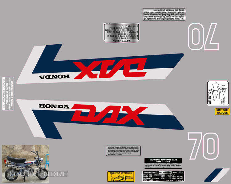 Honda Dax ST70, Kit déco stickers 713006352