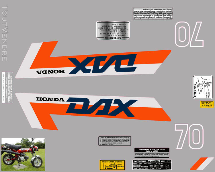 Honda Dax ST70, Kit déco stickers 713006355