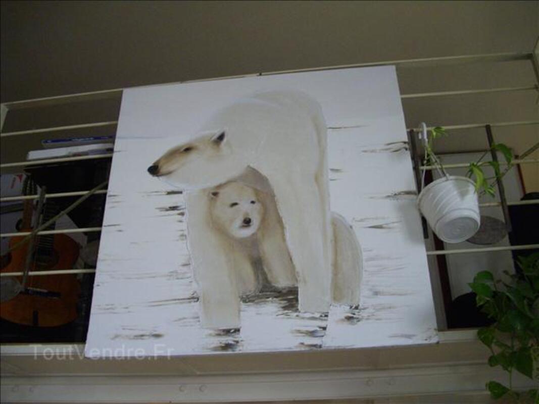 Huile sur toile thématique l'ours blanc polaire 31474224