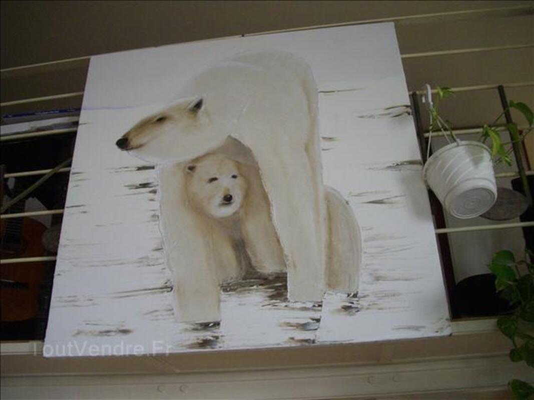 Huile sur toile thématique l'ours blanc polaire 31474284