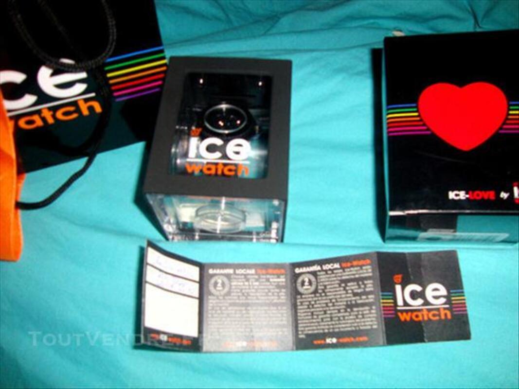 ICE WATCH LOVE - MONTRE QUARTZ NOIR, MODÈLE FEMME NEUVE 76715294