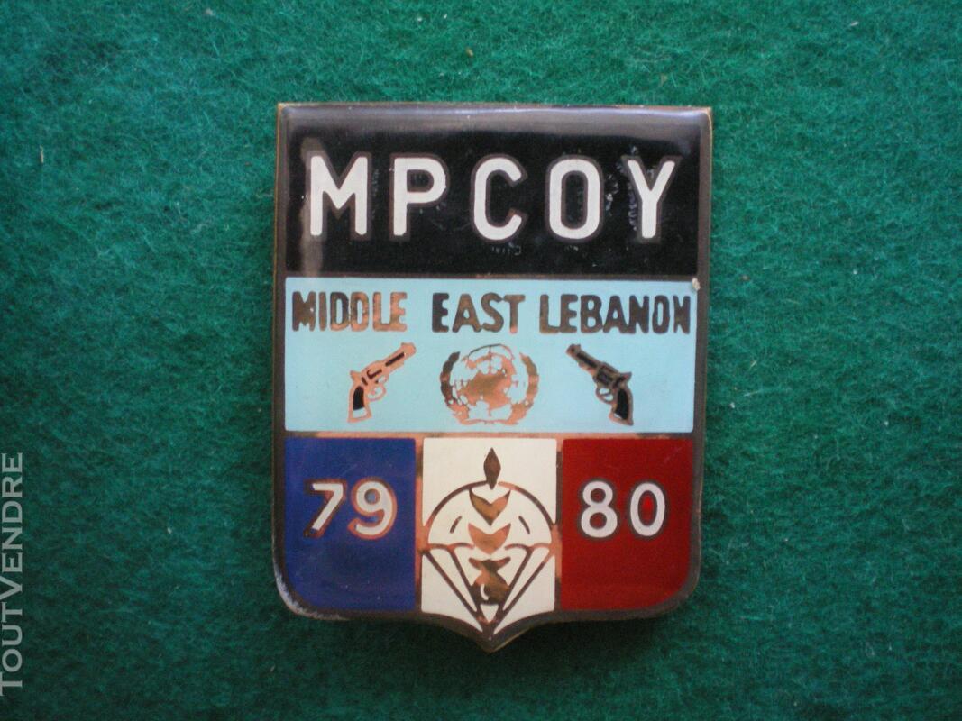 Insigne de Gendarmerie MP COY Liban. 142445288