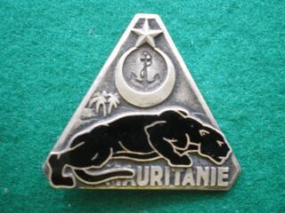 Insigne gendarmerie : Garde de Mauritanie.
