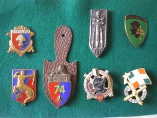 Insignes Ecole d'Artillerie - Artillerie et Char de Combat.