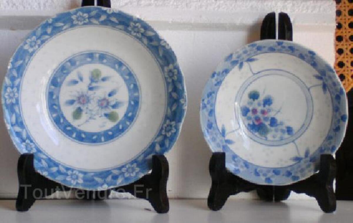 Japonaises-deux assiettes creuses en bleu subtile 91478000