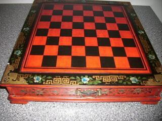 Jeu d'échecs en bois style chinois