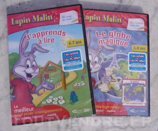 Jeux PC Lapin Malin, J'apprends à lire+Le globe magique