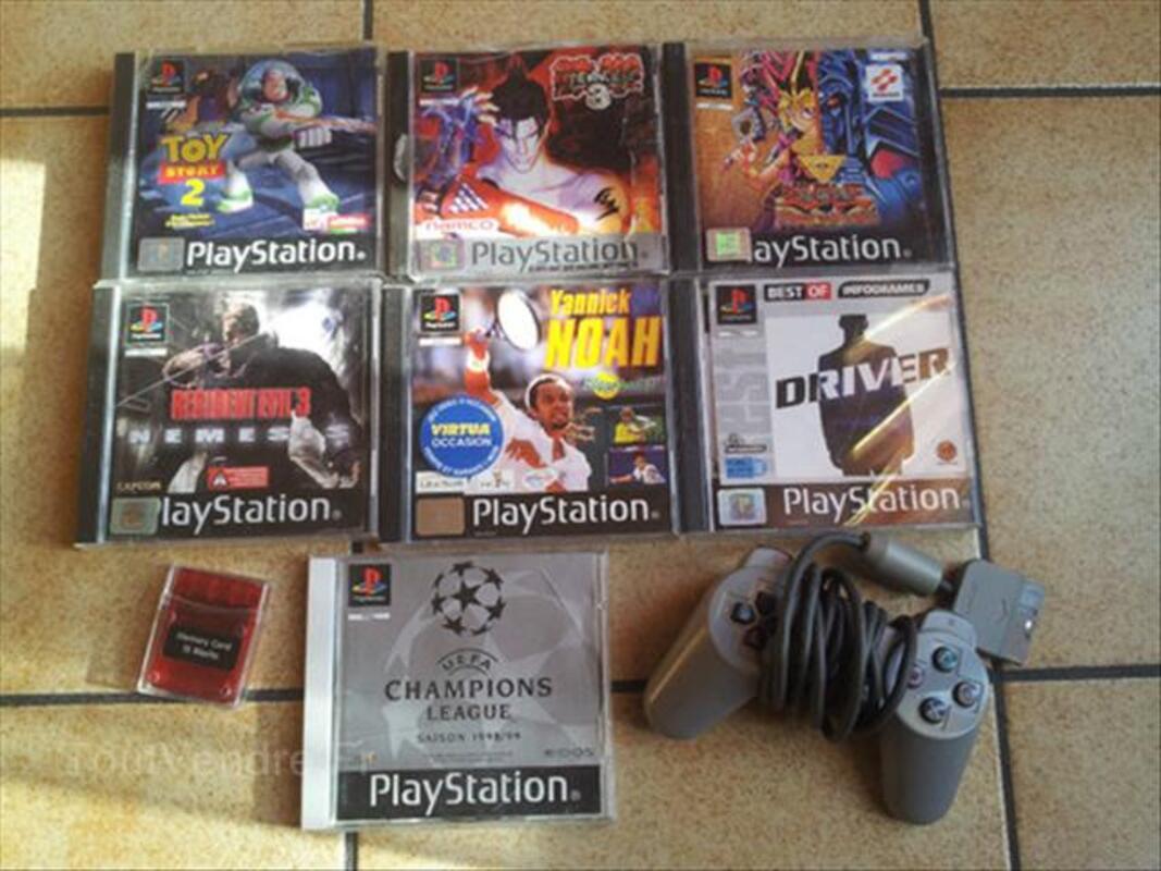 Jeux Playstation 1 + manette + carte mémoire 64640066