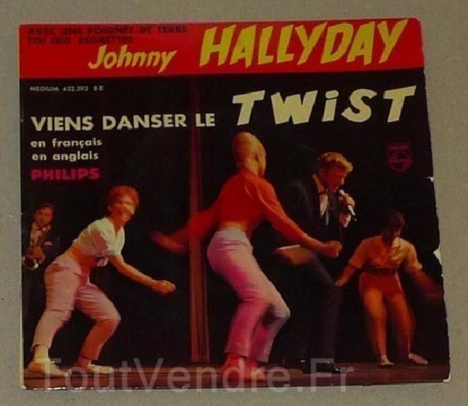 "JOHNNY HALLYDAY  45T VINYLE  ""le twist"" 93821164"
