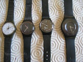 Joli lot de 4 montres SWATCH sans pile