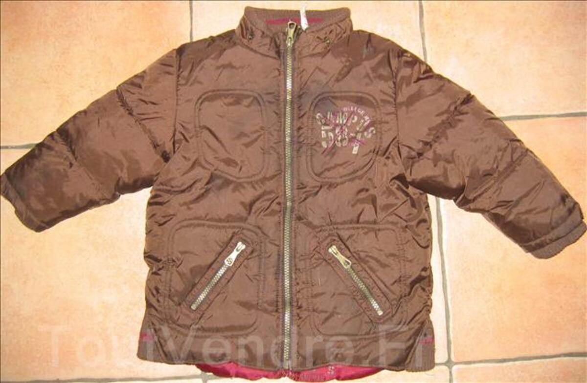 Joli manteau marron kiabi taille 4 ans 6405224