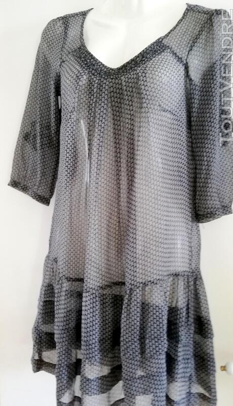 Jolie robe gris noir légère DDP 38 414805489