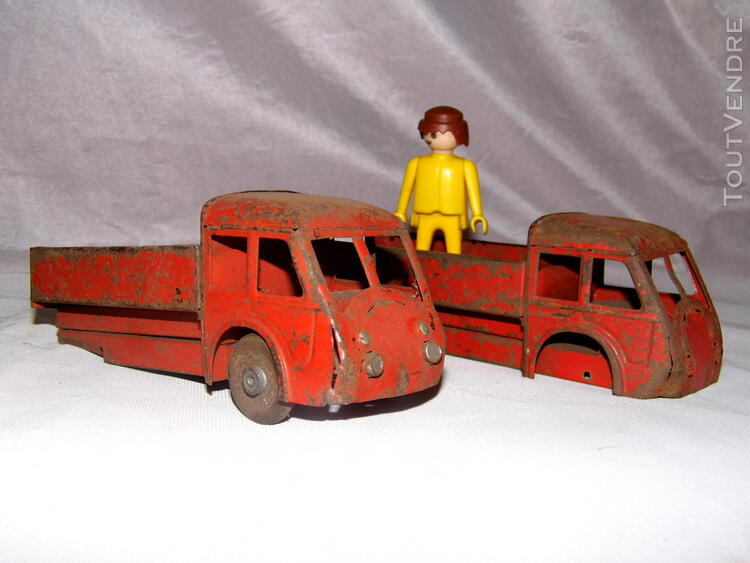 Jouet ancien tole 2 camions non Joustra dinky toys norev 251326665