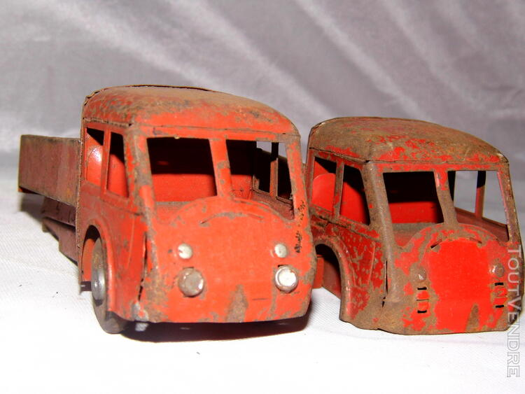 Jouet ancien tole 2 camions non Joustra dinky toys norev 251326669