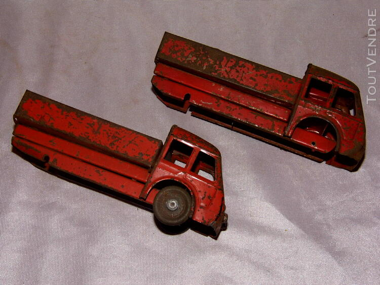 Jouet ancien tole 2 camions non Joustra dinky toys norev 251326671