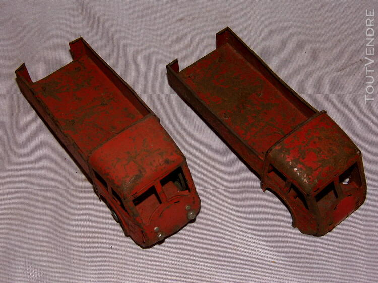 Jouet ancien tole 2 camions non Joustra dinky toys norev 251326673
