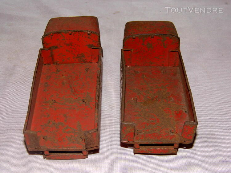 Jouet ancien tole 2 camions non Joustra dinky toys norev 251326675