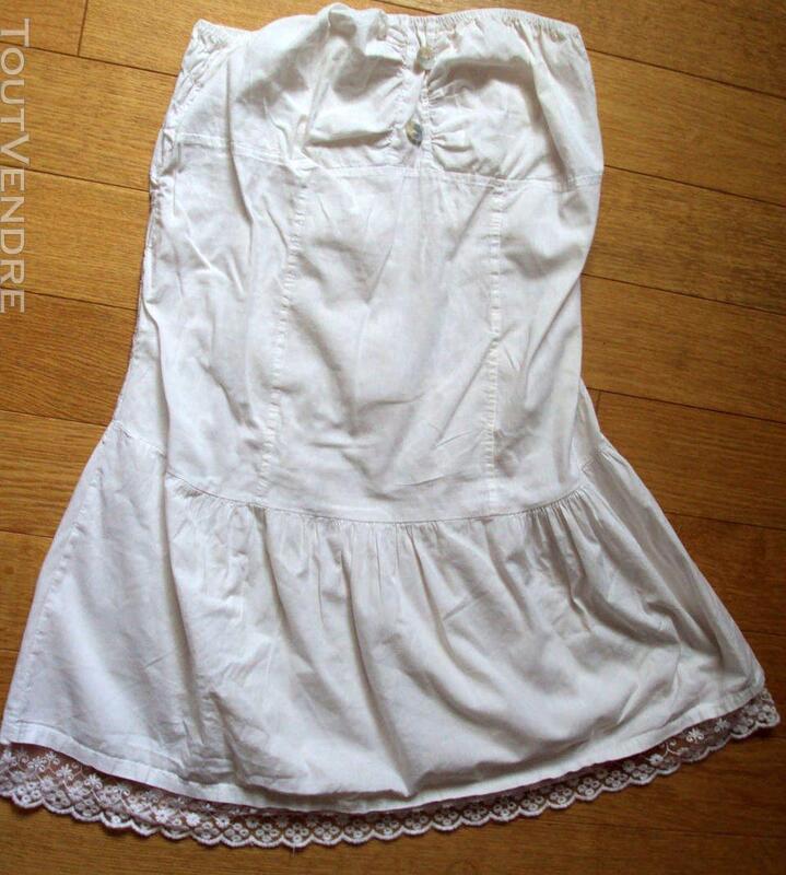 Jupe jupon blanc dentelle nacre 38 243319992