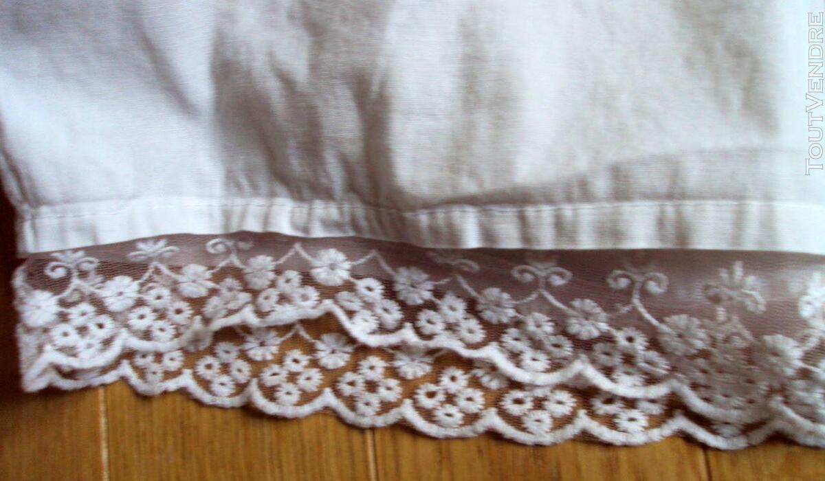 Jupe jupon blanc dentelle nacre 38 243320040