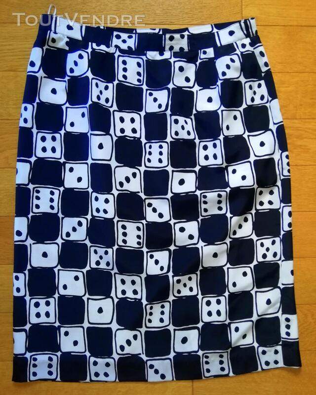 Jupe noir et blanc Louis Féraud jeu de dés T 46 415704868