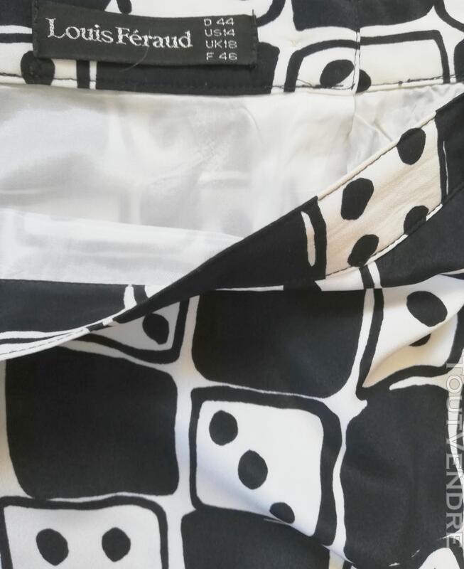 Jupe noir et blanc Louis Féraud jeu de dés T 46 415704871