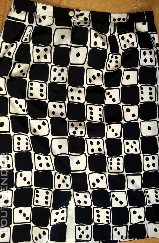Jupe noir et blanc Louis Féraud jeu de dés T 46 415704874