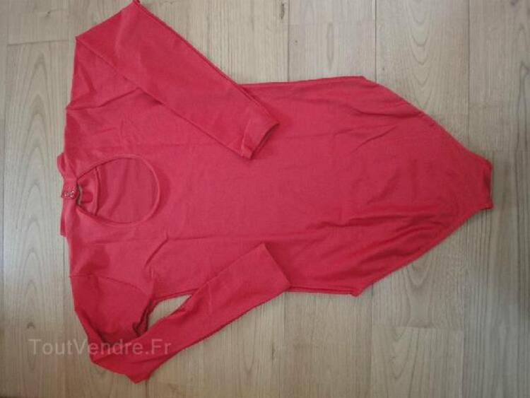 Justaucorps Dance Lycra brillant rouge Adulte 90032126