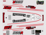 Kawasaki GPZ 900 R 88, Kit déco sticker